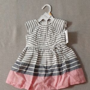 Stripped Toddler Girl Linen summer dress